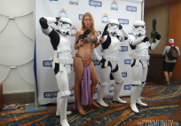 Long Beach Comic Expo 2014 - Slave Leia and Stormtroopers cosplay